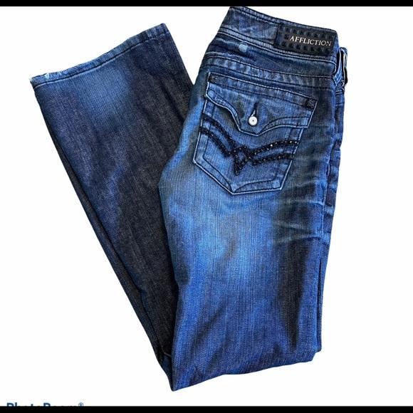 Women's Affliction Jade Bootcut jeans size 27
